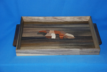 Jamaica Inlaid Tray Jamaica Inlaid Tray - Small  = $2300.00