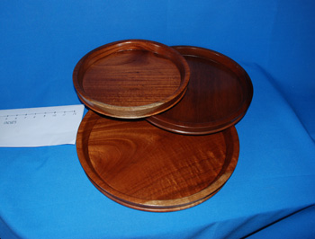 Round Tray - Cedar  >  12 inches =  $1828.00,  14 inches =  $3544.00