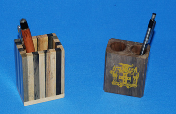 Pencil Holder -  Mahoe =  $344.00,  Multiwood =  $557.00