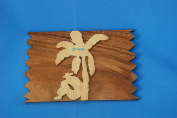 Wall Plaque - Native Scene $310.00