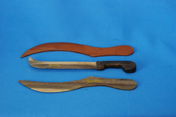 Paper Knife - Machette $456.00, Sickle $289.00, Sickle Mahogany $216.00