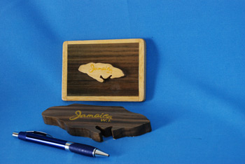 Paper Weight - Jamaica Shape $297.00, JA Shape (Mounted) $265.00