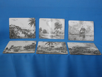 Table Mat B/W - 8 x 10 $9321.70/Set of 6, Coasters (5 x 4) $4294.47/Set of 6