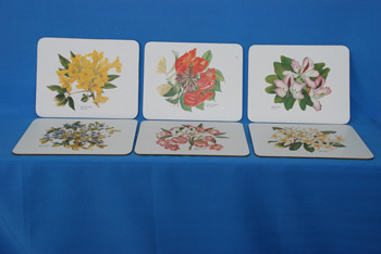 Table Mat Flowers - 8 x 10 $9678.30/Set of 6, 10 x 12 $10970.21/Set of 6
